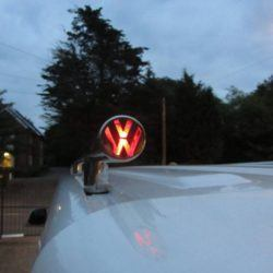 T5 42mm Polished Stainless Steel Roof Bars with LED - LWB 1