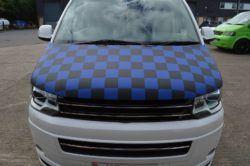 T6 Blue & Black Chequered Bonnet Bra 1