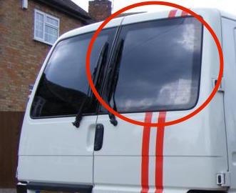 T4 Offside Twin Rear Door Window Glass In Privacy Tint 1