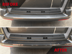 Bumper protector before & after