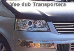 Chrome drl head lights T5