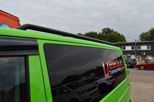 T5 Gloss Black 42mm Roof Bars & Sportline Sidebars SWB 2