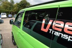 Vw transporter T5 N/S/Front Fixed Window In Privacy tint