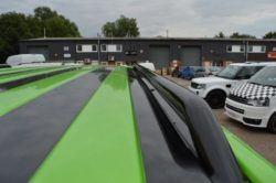 T6 42mm Gloss Black Steel Roof Bars - LWB 1