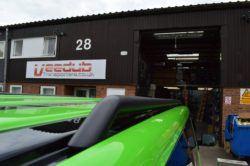 T5 Matt Black 42mm Roof Bars & Sportline Sidebars SWB 2