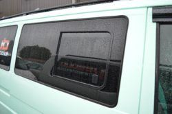 Vw transporter T4 O/S/Front Sliding opening Window In Privacy Tint
