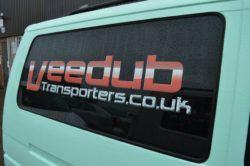 Vw transporter T4 O/S/rear Quarter Window In Privacy Tint LWB