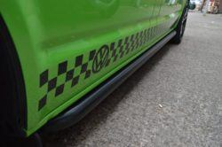 Vw Transporter T5 Sportline Style side bars Matt black