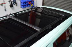 T4 Black Aluminium Roof Rails & Wing Bar Package - SWB 2