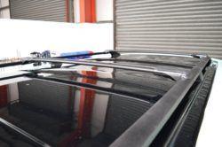 T4 Black Aluminium Roof Rails & Wing Bar Package - SWB 1
