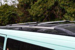 T4 Shiny Aluminium Roof Rails & Wing Bar Package - LWB 1