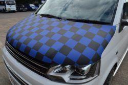 T6 Blue & Black Chequered Bonnet Bra 2