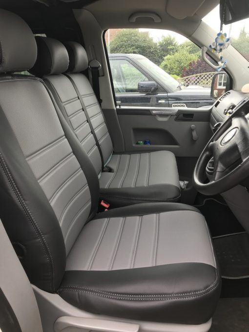 T5 Grey ribbed seat covers2