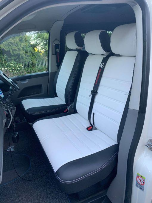 VW T5 2+1 front white