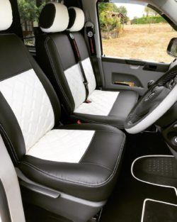 diamond seat covers white