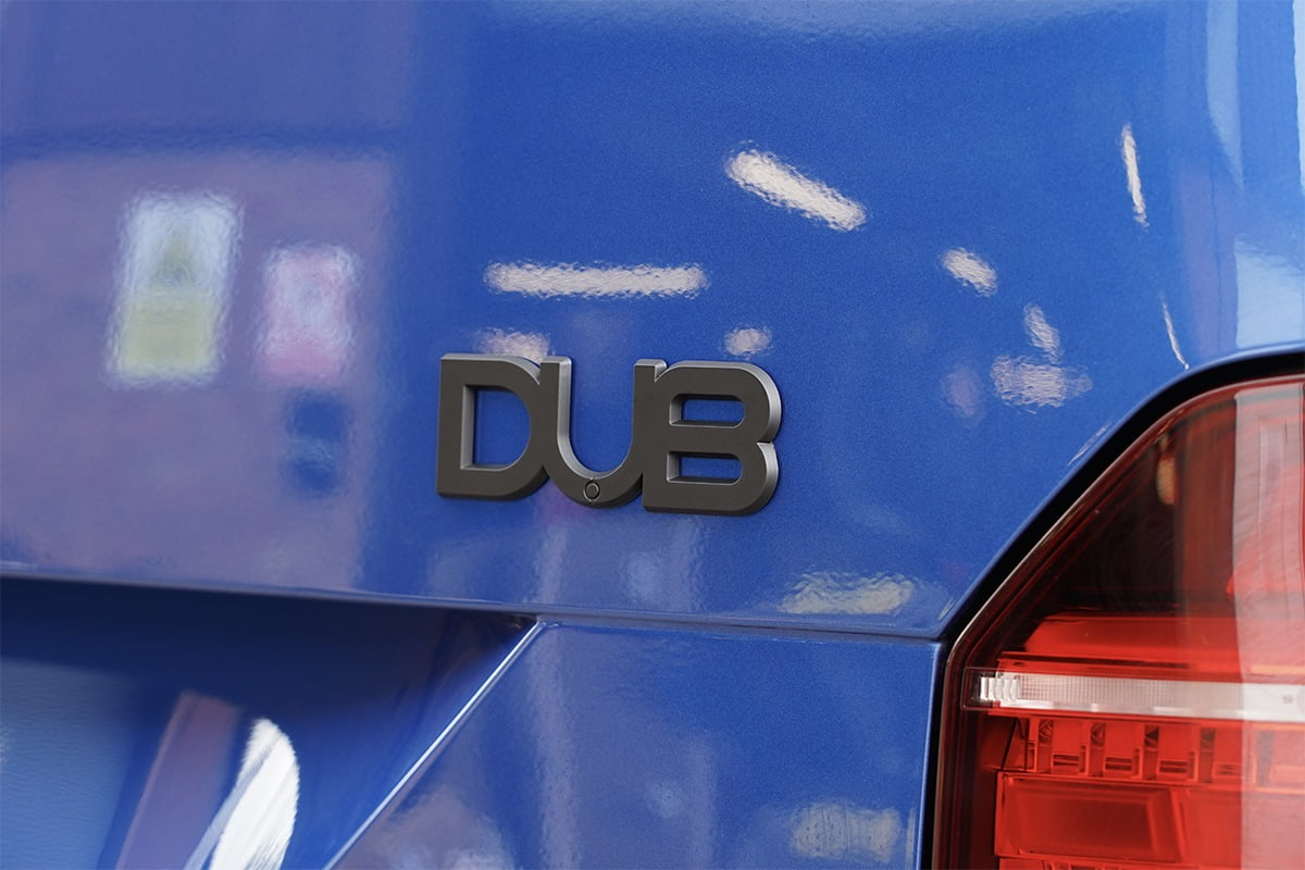 DUB Badge Matt Black