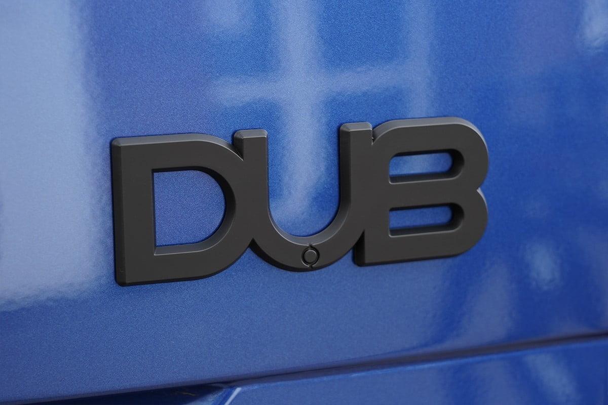 DUB Badge Matt Black Closeup