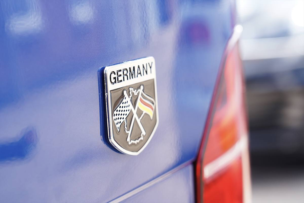Germany Racing Badge Closeup