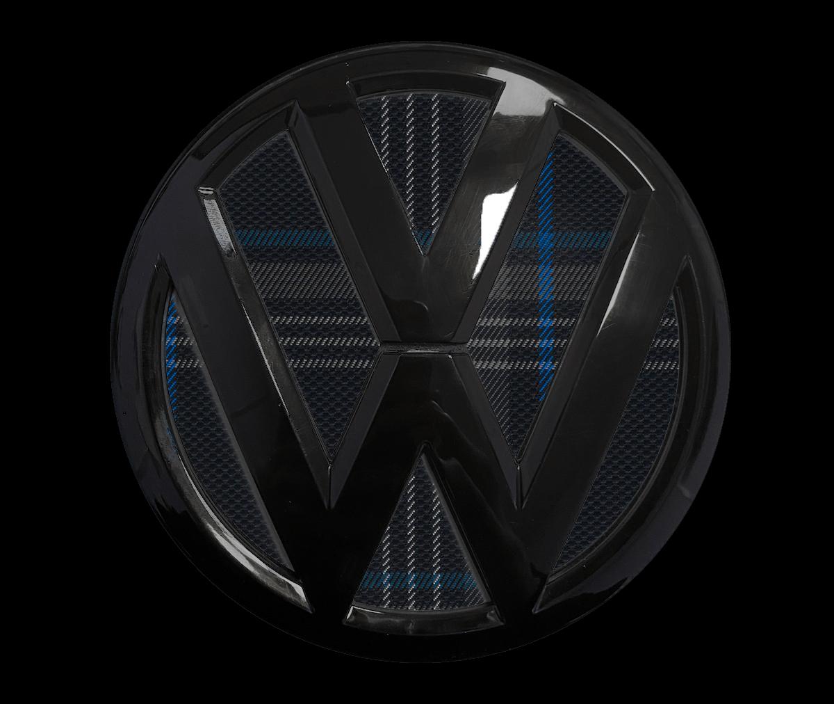 VW rear badge gti tartan blue