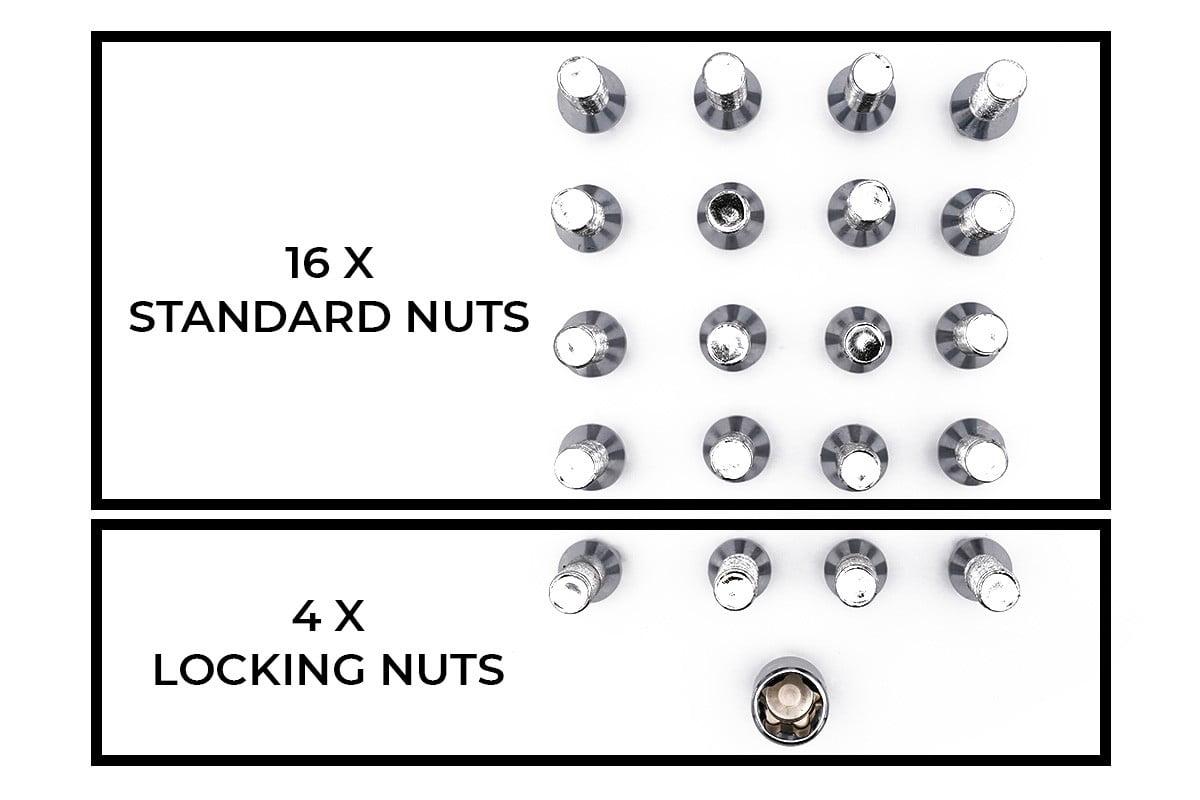Wheel Nuts Polished Diagram