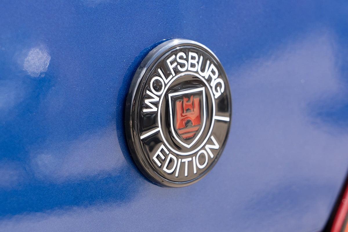 Wolfsburg Edition Badge Black Closeup